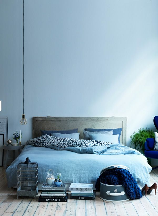 Blauwe slaapkamer   Interieur Insider