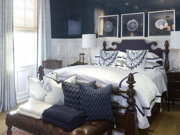 Slaapkamer donkerblauw u2014 interiorinsider.nl