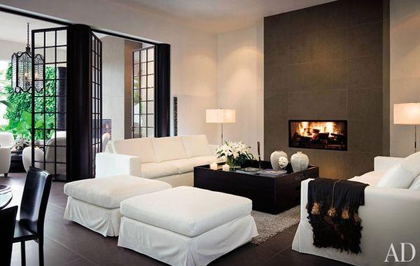 Bruin wit interieur