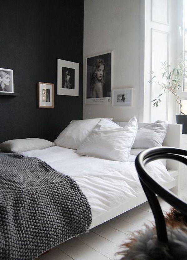 Zwart witte slaapkamer - Interieur Insider
