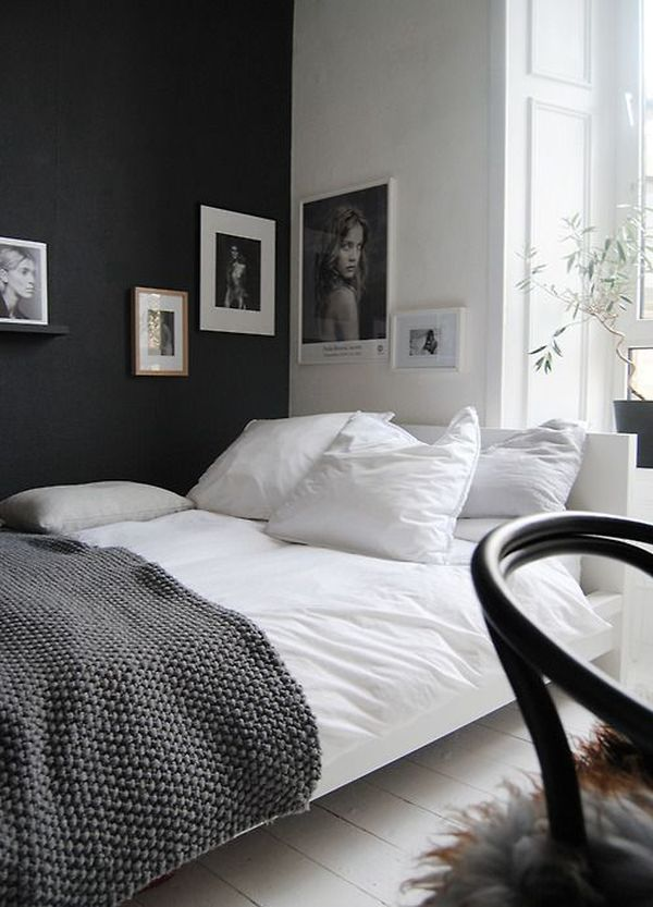 Zwart witte slaapkamer — InteriorInsider.nl