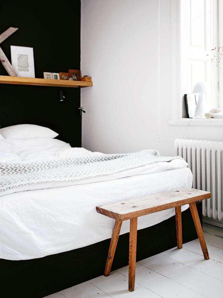 Zwart witte slaapkamer