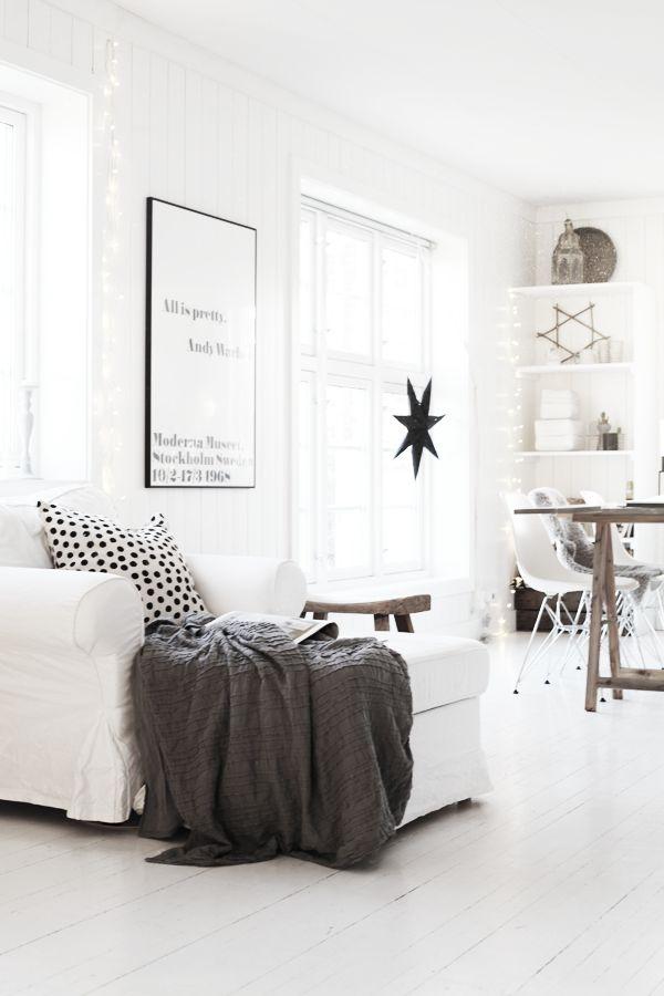 Zwart wit interieur woonkamer — InteriorInsider.nl