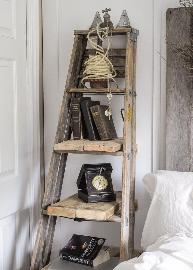 Ladder als accessoires gebruiken - Decoratie interieur trap schilderij ...