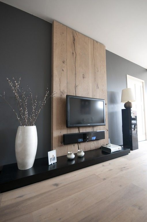 Cimaise Bois Ikea : Wood Panel TV Wall Idea
