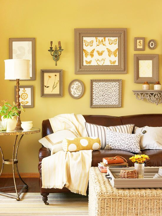Gele woonkamer — InteriorInsider.nl