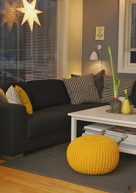 Gele woonkamer - Entree interieur decoratie ...