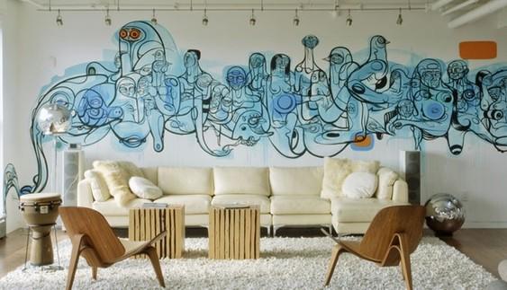 Graffiti thuis op de muur