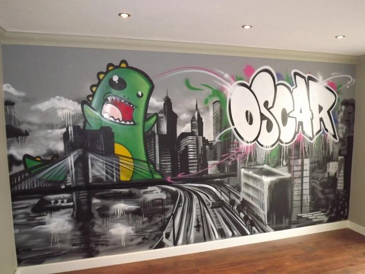 Graffiti Thuis Op De Muur Interieur Insider