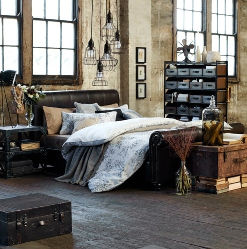 industriële slaapkamer - interieur insider, Deco ideeën