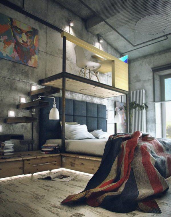 Industriële slaapkamer — InteriorInsider.nl