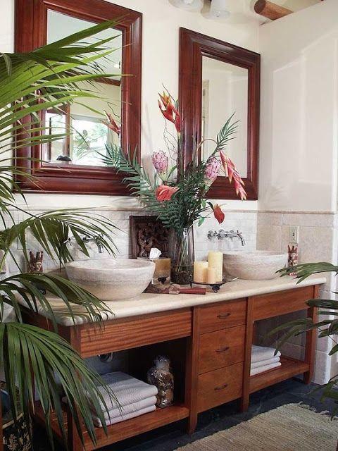 Koloniale badkamer - Interieur Insider