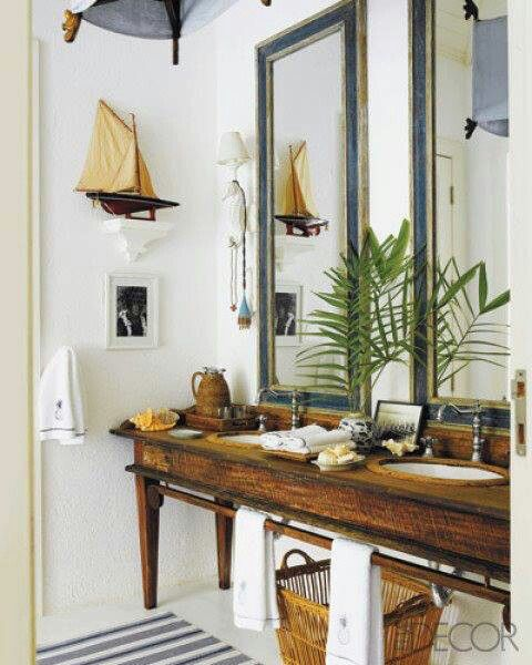 Lighthouse Bathroom Decor Ideas : Koloniale badkamer interieur insider