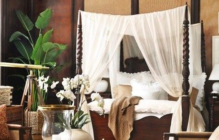Koloniale slaapkamer