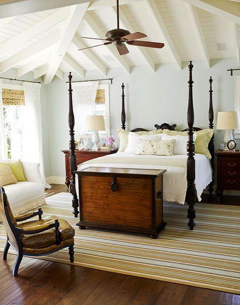 Koloniale slaapkamer - Kleur voor de slaapkamer van de meid ...
