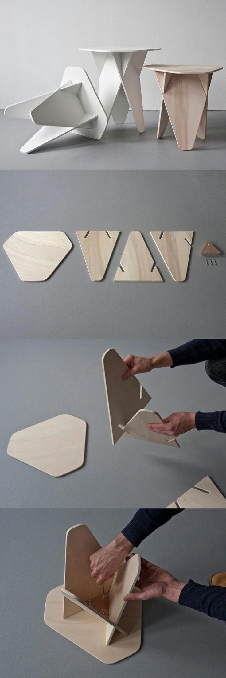houten DIY krukje