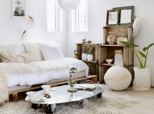 Landelijk woonkamer grijs - Muur taupe kleur ...