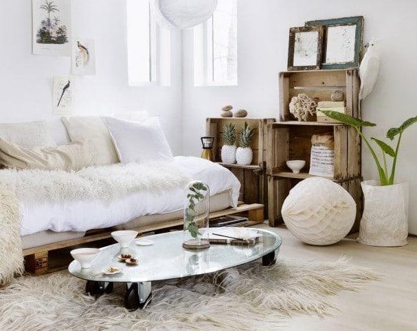 natuurlijk interieur landelijke kleuren woonkamer