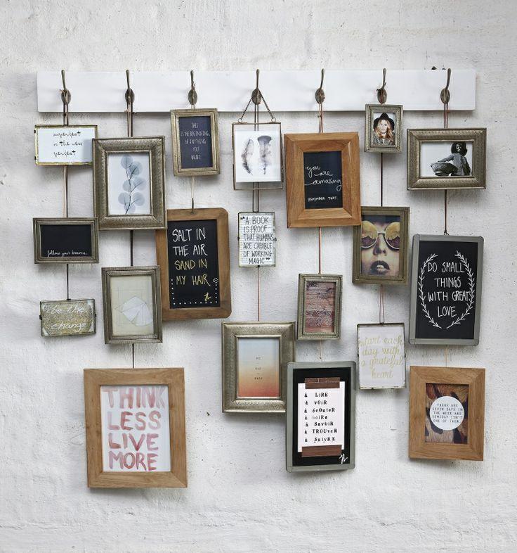 Fotolijsten interieur insider - Paredes con marcos de fotos ...