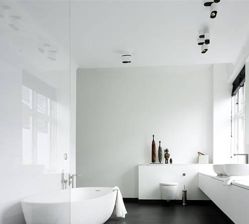Moderne strakke badkamers - Moderne badkamer badkamer ...