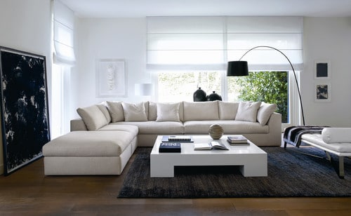 L vormige woonkamer inrichten interieur insider - Kleine moderne woonkamer ...