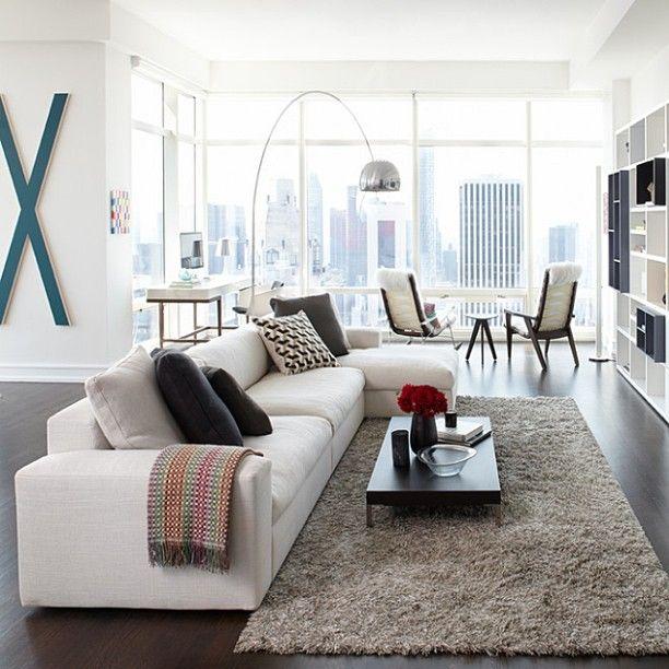 Modern interieur kleuren - Kleur moderne woonkamer ...