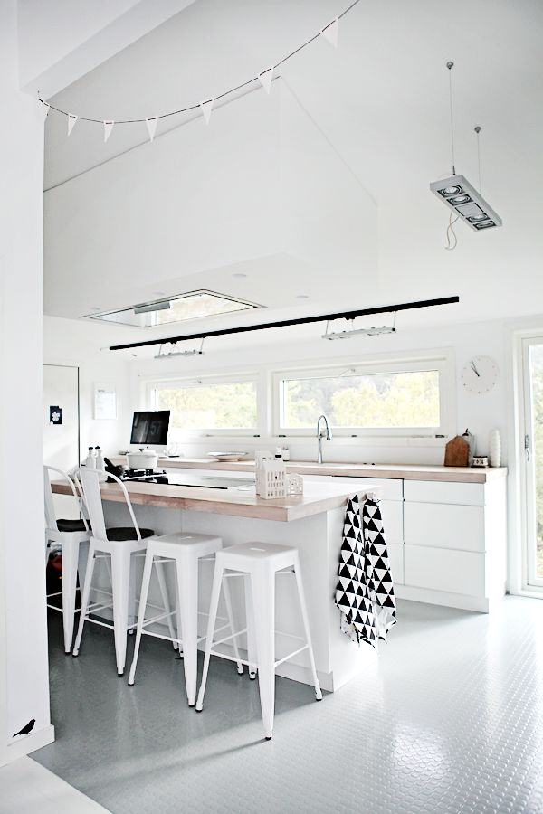 Keuken Plafondlamp : Kitchen White Interior