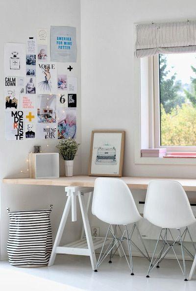 Tafel op schragen for Ideas decoracion escritorio