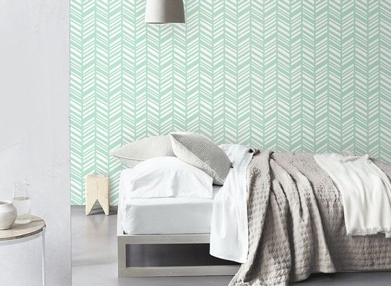 Slaapkamer behang idee — InteriorInsider.nl