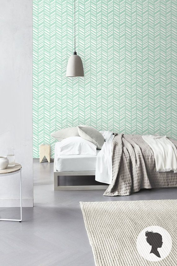 Slaapkamer behang idee for Idee deco kamer