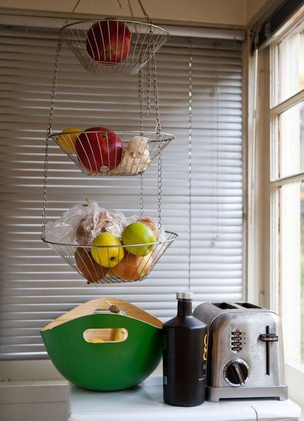 fruit en groente hangend opbergen