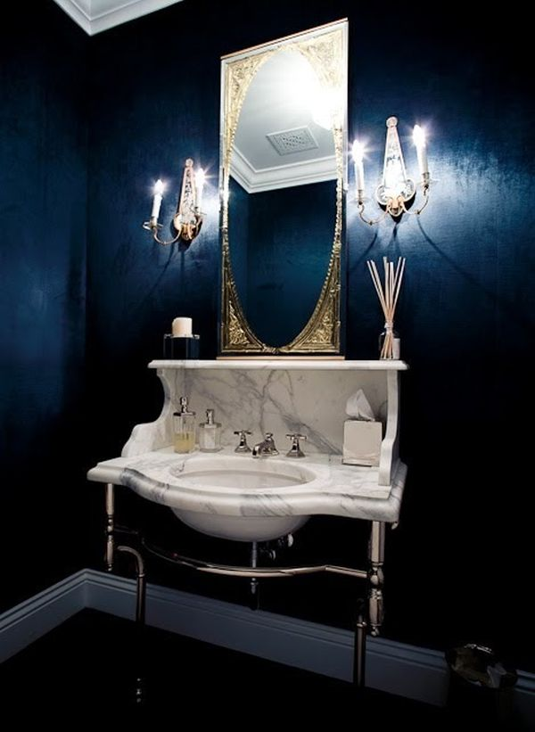 windsor+smith+dark+blue+powder+room