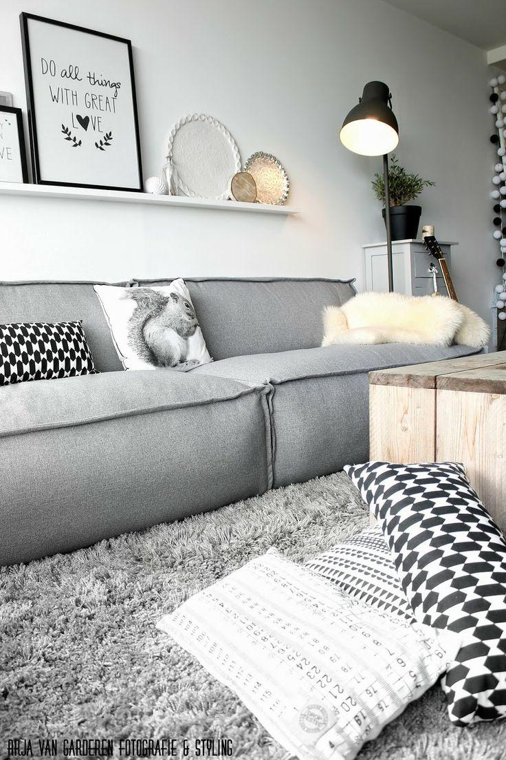 Kleden in woonkamer for Woonkamer wit