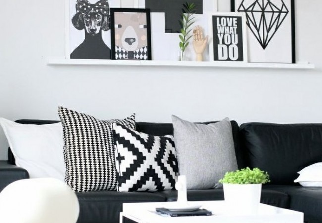 Interieur ideeen woonkamer zwart wit beste inspiratie for Interieur zwart wit