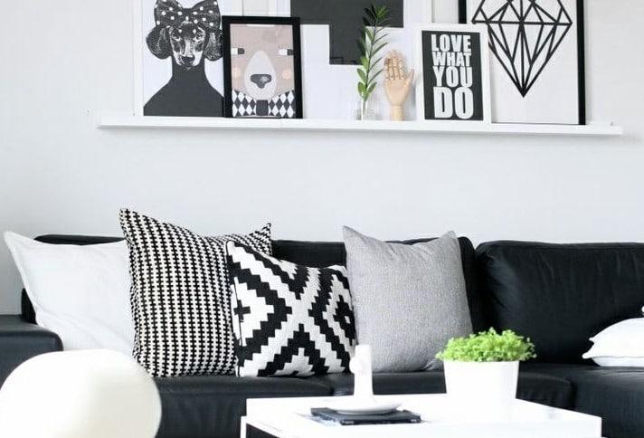 Interieur ideeen woonkamer donkere vloer lichte met