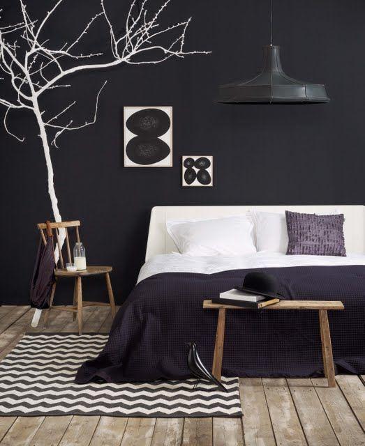Zwarte slaapkamer - Interieur Insider