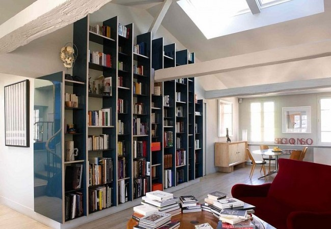 Apartment in paris by r gis larroque for Berging inrichten