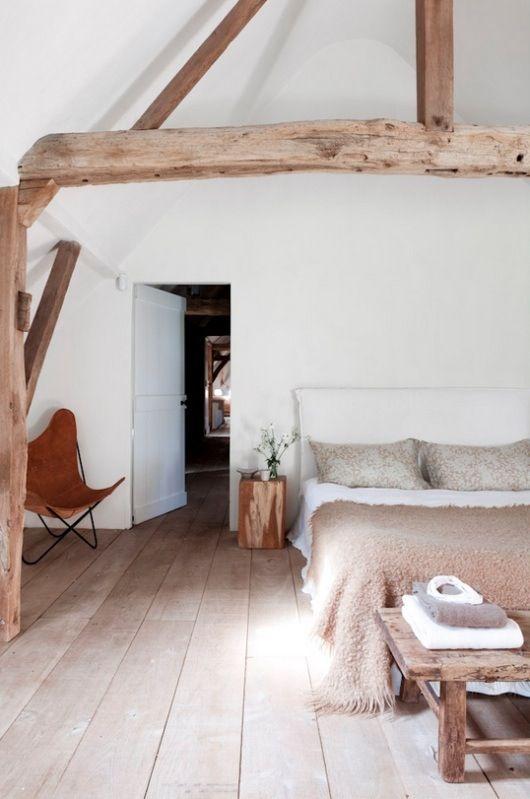 Interieur met balken - Ruimte model kamer houten ...