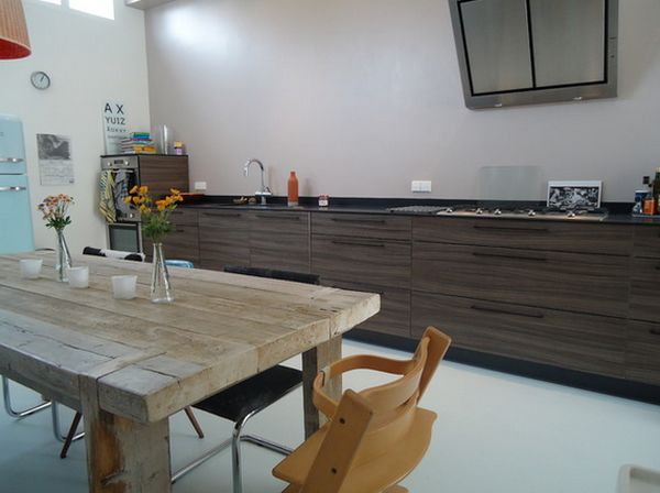 farm-dining-table-in-a-modern-kitchen