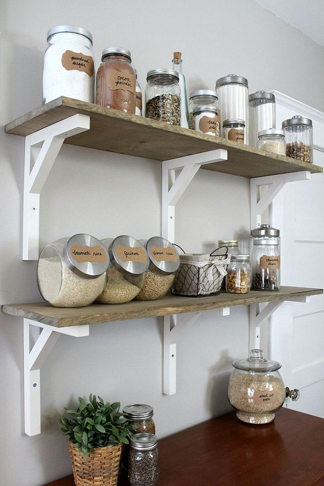 Planken in de keuken - Keuken decoratie ideeen ...