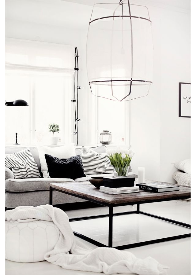 Grote witte lamp