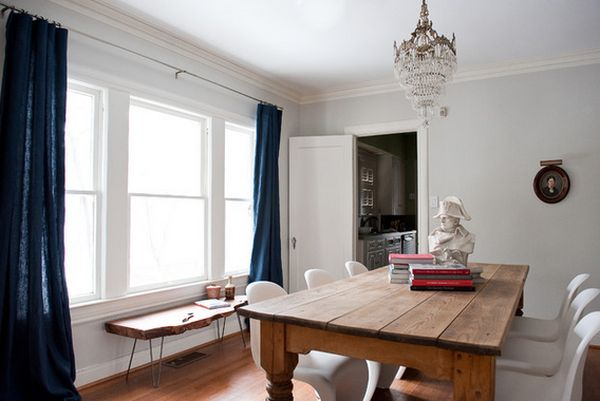 modern-chairs-with-old-farm-table