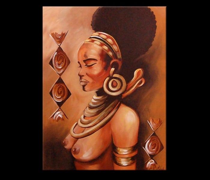 Afrikaanse schilderijen interieur insider - Schilderij slaapkamer kind ...