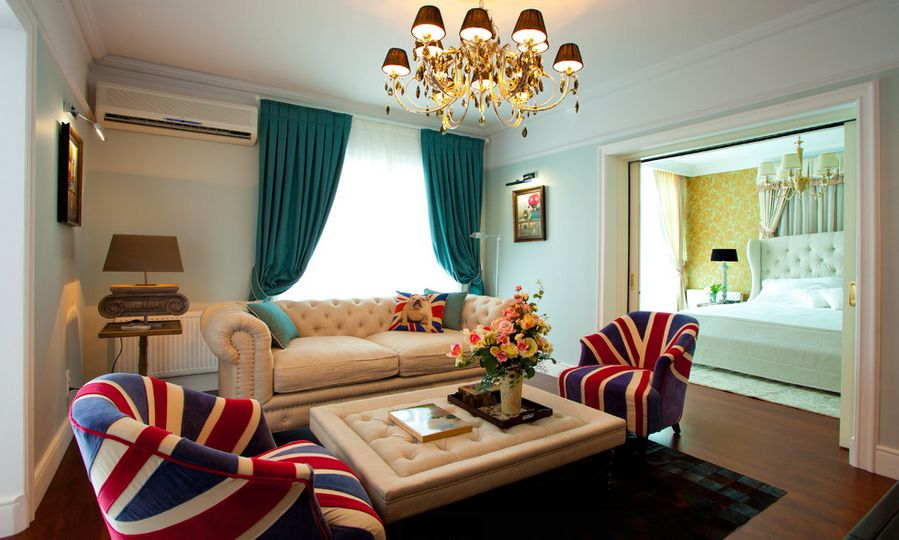 Keuken Gordijnen Leen Bakker : British Themed Living Room Design