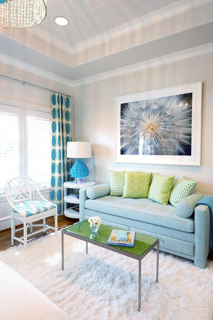 Turquoise Gordijnen Interiorinsider Nl