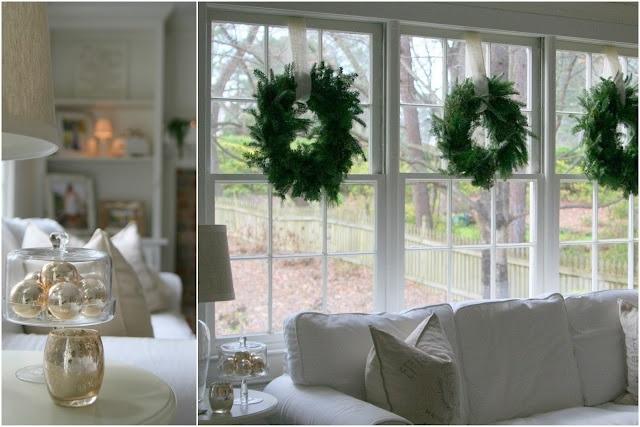 Kerst Ideeen Woonkamer : Christmas Window Wreaths