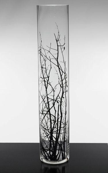 87260204231 tree cylinder vase