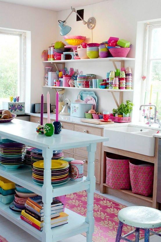 Vrolijke keuken - Gezellige keuken ...
