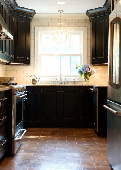 black-cabinets-white-tiles