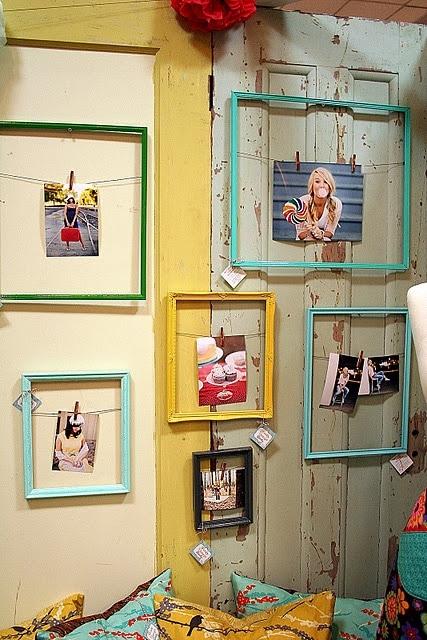 Decoratie met fotolijstjes